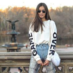 GAME OVER @shoptobi sweater  photo by @leandrojusten #nyc #newyork #streetstyle #centralpark