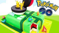 Pokemon Go Cake! Pikachu cake with a surprise pokeball cake inside! Pokemon Go Cake! Pikachu cake with a surprise pokeball cake inside! Pokemon Cupcakes, Pokemon Torte, Pokemon Birthday Cake, Birthday Cakes, Pokeball Cake, Pikachu Cake, Pikachu Pokeball, Pokemon Go Tricks, Make A Pokemon