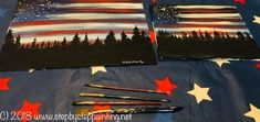 Host a Patriotic Theme Paint Party. How To Paint American Flag Sky - Step By Step Painting Canvas Painting Tutorials, Acrylic Painting Techniques, Diy Canvas Art, Acrylic Painting Canvas, Canvas Paintings, Painting Videos, Painting Tips, Rock Painting, American Flag Drawing