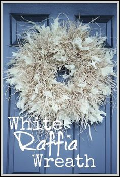 Good use for that straw wreath from my mother-in-law. Diy Fall Wreath, Wreath Crafts, Holiday Wreaths, Mesh Wreaths, Winter Wreaths, Floral Wreaths, Spring Wreaths, Summer Wreath, Fall Crafts