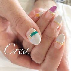 秋/冬/オールシーズン/オフィス/ハンド - yukari_creanailのネイルデザイン[No.1859308] ネイルブック Get Nails, Love Nails, Pretty Nails, Nail Polish Designs, Cool Nail Designs, Japan Nail Art, Nail Art Kit, Minimalist Nails, Luxury Nails