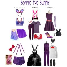 Bonnie the Bunny by ineeda on Polyvore featuring moda, Closet, ONLY, Emilio Pucci, Calvin Klein Underwear, Elie Saab, Uniqlo, JY Shoes, Converse and Kate Spade Saturday