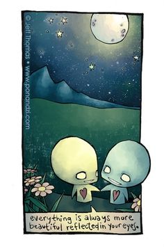 Photo: pon and zi jeff thomas azuzephre emo comic cartoon it would be easy to tell we're supposed to be thogether even if we were puzzle pieces. Emo Love Cartoon, Emo Cartoons, He's Mine, Arte Emo, Moon Photos, Emo Scene, Tumblr, Art For Art Sake, Cute Love