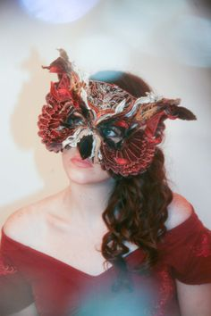 VELVET OWL MASK by TheseWoods on Etsy, $389.00