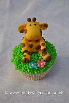 Giraffe cupcake  Kate.... this pin is for Gabe