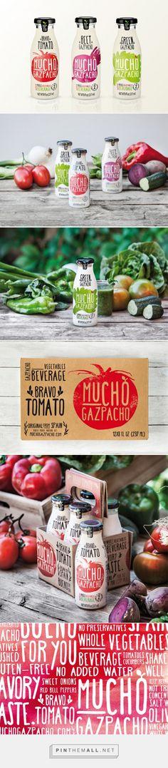 Mucho Gazpacho Packaging - Estudio Versus. Diseño gráfico, comunicación, campañas publicitarias, identidad corporativa, packaging, editorial, paginas web, exposiciones. - created via https://pinthemall.net