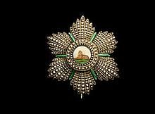 A small silver Breast Star of the Qajar Order of