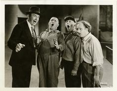 Ted Healy and The Three Stooges on the set of Dancing Lady, directed by Robert Z. Leonard, 1933.