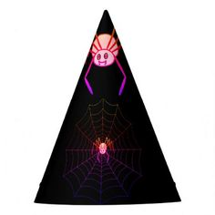#Pretty Pink Spider Halloween Party Hat - #Halloween happy halloween #festival #party #holiday