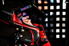 Awesome pic of Tony Stewart with helmet on.