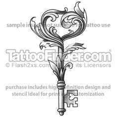 Heart Tattoos | TattooFinder.com : Nouveau Key To The Heart tattoo design by Furmanov
