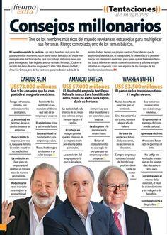 Consejos de los 3 hombres más ricos del mundo.