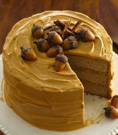Packed with cinnamon, sugar, ginger and nutmeg we love this flavorful spice cake!