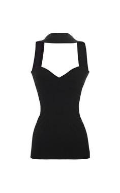 Shop Oscar Jersey Reverse Halter Top by Cushnie et Ochs for Preorder on Moda Operandi