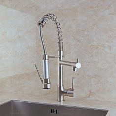 Brewst Pull Out Spray Kitchen Faucet Brushed Nickel