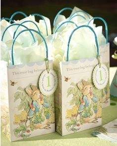 Peter Rabbit Personalized  Party Favor Bags