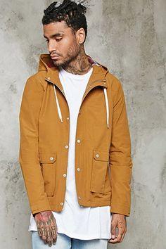 Hooded Pocket-Front Jacket | 21 MEN - 2000199150