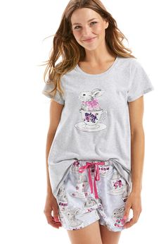 Image for Bunny In Cup Short from Peter Alexander