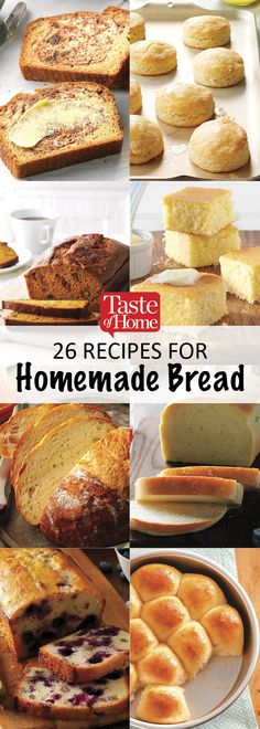 26 Recipes for Homemade Bread