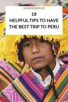18 Helpful Tips To Have The Best Trip To Peru. Travel Tips. South America. Elephant on the Road