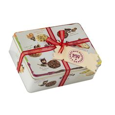 G40 Christmas Biscuit Tin with printed cracker tag
