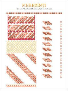 Semne Cusute: model de ie din OLTENIA, Mehedinti Hungarian Embroidery, Folk Embroidery, Shirt Embroidery, Learn Embroidery, Floral Embroidery, Embroidery Patterns, Cross Stitch Patterns, Pop Up, Flower Embroidery Designs