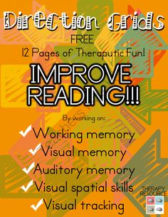Improve Reading Working memory Visual memory or Auditory memory Memory Strategies, Reading Strategies, Reading Help, Teaching Reading, Brain Based Learning, Speech Language Therapy, Speech Therapy, Working Memory, Vision Therapy