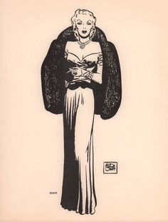 A a character print from Terry and the Pirates featuring Burma. Milton Caniff would sign and sometimes color these prints for fans who requested original art.