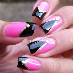 100 Beautiful and Unique Trendy Nail Art Designs Beautiful Nail Designs, Cute Nail Designs, Beautiful Nail Art, Beautiful Pictures, Get Nails, Fancy Nails, Pink Nails, Fabulous Nails, Gorgeous Nails
