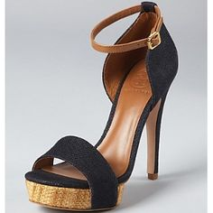 Tory Burch - Navy And Tan Amina Sandals (50% off)