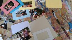 Handmade thank you cards day from pony party.  Each kid gets a picture of pony ride