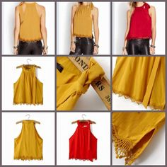 Detail:EQ 186 Bow Halter Blouse (RED/YELLOW size S,M,L)Excellent QualityFabric Polyester Crochet, Not Elastic Size S.M.L in cmBust (94,98,102) Length (54,55,56)sebelum membeli tanyakan ketersediaan stok terlebih dahulu infowa 081237304540 bb pin 551fd9be Happy shopping
