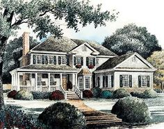 Asymmetrical Early American Classic - 56113AD | Country, Southern, 1st Floor Master Suite, Jack & Jill Bath, PDF, Corner Lot, Sloping Lot | Architectural Designs