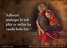 """Adhoori mulaqat hi toh phir se milne ka vaada hota hai. Song Lyric Quotes, Music Quotes, Hindi Quotes, Words Quotes, Life Quotes, Love Parents Quotes, Movie Love Quotes, Bollywood Love Quotes, Romantic Song Lyrics"
