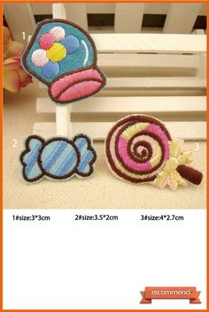 Candy Patches Individuality Hat patches sports patches Embroidered Iron-On Patches sew on patches