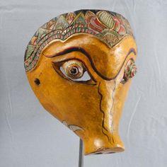 Indonesien Javanese Wayang Topeng Mask Maske Maschera vintage tribal ethnic pr34