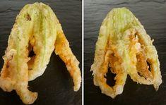Beignets de fleurs de courgettes à la tempura