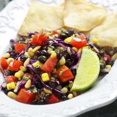 A southwestern corn and black bean salad is fresh, healthy and tastes great. See how easy it is to make this salad with our heart healthy recipe and start cooking! Black Bean Salad Recipe, Bean Salad Recipes, Lunch Recipes, Vegan Recipes, Cooking Recipes, Summer Recipes, Cabbage Recipes, Vegan Meals, Mexican Recipes