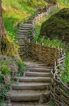 La Sinca Veche, in Tara Fagarasului foto: Elian Coman Fence Gate, Fences, Enchanted Garden, Sunroom, Garden Bridge, Garden Inspiration, Romania, Gates, Roots