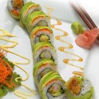 Boston Roll: Boiled Shrimp, Avocado, Cucumber, Sushi Rice, Nori, Wasabi