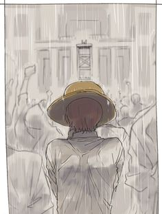 Red-Haired Shanks at Roger's execution One piece