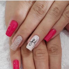 Best Acrylic Nail Designs these ideas will have you totally obsess for more, Cute pink nails, acrylic nail art designs Best Acrylic Nails, Acrylic Nail Designs, Nail Art Designs, Cute Toe Nails, Modern Nails, Short Nails Art, Trendy Nail Art, Glitter Nail Art, Gorgeous Nails