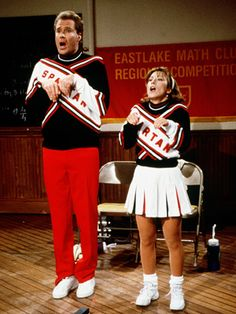 Will Ferrell and Cheri Oteri Spartan Cheerleaders SNL Cheri Oteri, Haha Funny, Hilarious, Funny Memes, Snl Skits, Will Ferrell, Saturday Night Live, Movies, Spinning