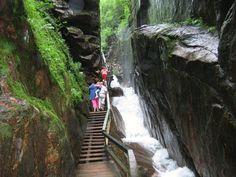 Franconia Notch State Park, New Hampshire.