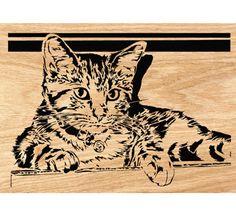 Good Kitty Scrolled Portrait Art Pattern