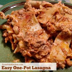 Easy One-Pot Lasagna Recipe - From Val's Kitchen