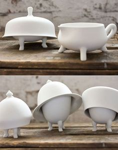 cute crockery: walking dishes!