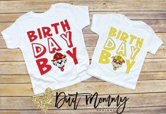 Week Current Processing Time 🚨 Faster Options Available in Checkout! Have your items in as little as 2 Days! Paw Patrol Birthday Theme, Paw Patrol Party, Puppy Birthday, Animal Birthday, Pictures Of Paw Patrol, Birthday Boy Shirts, Birthday Stuff, Birthday Parties, Paw Patrol Shirt