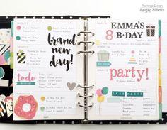 weekly spread by design team member Theresa Doan