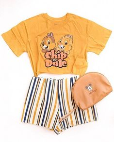 Disney Style outfit with Chip and Dale! Disney Style Outfit with Chip and Dale! Adorable leisure outfit from Disney. Disney World Outfits, Cute Disney Outfits, Disney Themed Outfits, Cute Outfits, Disney Clothes, Disney Bound Outfits Casual, Disney Fashion Casual, Disney Inspired Fashion, Style Outfits